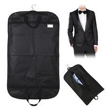 "Black 40"" Suit Carrier Garment Cover Travel Bag Strong Woven Nylon Lightweight"