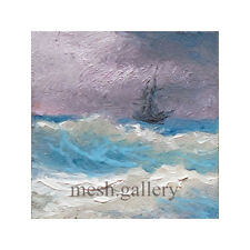 "163-11/""x 14/"" GALLERY WRAP CANVAS ART  PRINT SEASCAPE Sailing Ship Choppy Sea"
