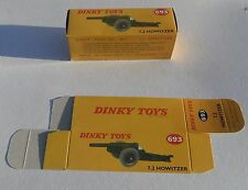 High Quality Reproduction Dinky Military Boxes - 693 7.2 Howitzer