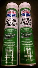 Lucas X-Tra Heavy Duty Grease 14 oz Cartridge P/N 10301 Two Tube Lot