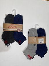 Levi's Men Socks Quarter 6 Pack Multi Color size 6-12 10% Off Each Buy 2 Or More