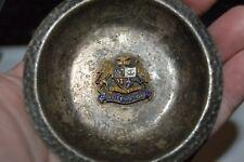 Vintage Wellington Australia Coat of Arms Sterling Silver Cigarette Ashtray Rare