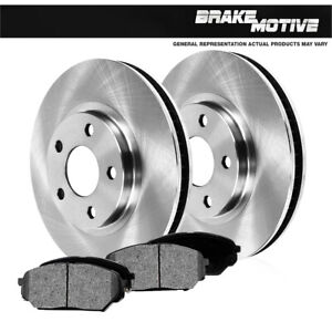 For Jeep Cherokee XJ Wrangler TJ Front OE Brake Disc Rotors And Metallic Pads