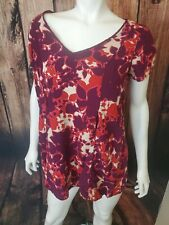 Jessica Simpson  Size Small Maternity Short Sleeve Shirt Print Purple