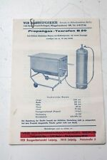 9x Viejo Manual De Instrucciones Veb Propano Gas Horno Del Alquitrán B20