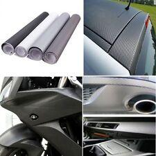"Carbon Fiber Vinyl Vehicle Decal Car Wrap Film Sheet Roll 12"" X 52"" Orange 3D"