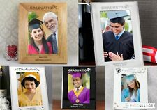 Personalised Graduation Photo Frame 4x6 5x7 8x10 Wooden Silver Graduation Gift