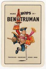 Playing Cards 1 Swap Card - Old BEN TRUMAN Brewery PALE ALE Beer PEG LEG Man