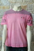 MOSCHINO Men's 100% Cotton Short Sleeve Pink T-Shirt L Free Shipping New w Tags