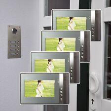 4 famiglie casa a colori video türsprechanlage 7 POLLICI MONITOR LED VISIONE NOTTURNA CAM 110 °