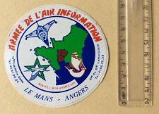 Autocollant Militaire Armée De L'air Information Le Mans Angers Année 70/80