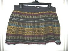 Billabong Embroidered Aztec Multicolor Lined Elastic Waist Stretch Skirt XL