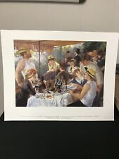 """Luncheon of the Boating Party Pierre Auguste Renoir Art Print of oil. 14""""x11"""""""