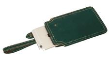 men women wallet purse cow Leather mobile phone pouch bag customize green Z771