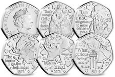 More details for 2021 isle of man alice in wonderland 50p coins - uncirculated