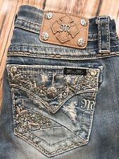 Buckle Miss Me Mid Rise Easy Boot Embellished JE8309E3R Jeans 25 Fits 28 X 31