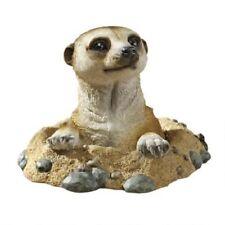 Wildlife Meercat Statue Peeping Out Animal Garden Sculpture Decor