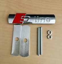 NEW AUDI S-LINE Emblem Chrome Metal Badge For Front Grill A3 A4 S4 RS4 S3