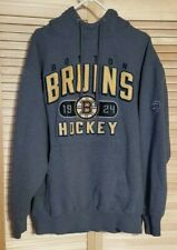 OTH Bruins Hockey Mens XL Hooded Sweatshirt Dark Gray
