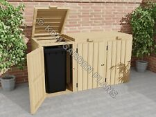 More details for woodwork plans for single double triple wheelie bin store (plans only by email)