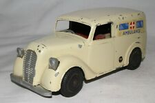 1950's Mettoy Large Windup Diecast Metal Ambulance, Original