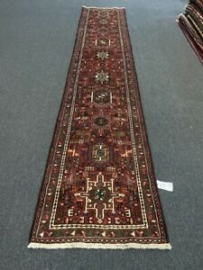"""On Sale Beautiful Vintage Hand Knotted Runner Carpet Gharajeh 2'5""""x12'6""""#3137"""
