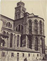 Venezia Santa Maria Gloriosa Dei Frari Italia Foto 2 Vintage Albumina Ca 1875