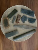 Vintage Sharpening Stone Lot of 9 stones Mixed soft hard Luther Grinder case
