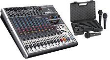 Behringer XENYX X1832USB Premium 18-Channel Mixer Board & XM1800S 3-Mics BUNDLE