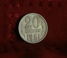 1961 Russia 20 Kopeks Copper Nickel Zinc World Coin Soviet USSR Hammer Sickle