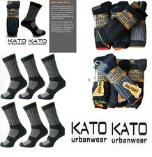 Ultimate Kato 12/6 Pairs Mens Work Socks Boot Safety Sock Cushion Sole Size 6-11