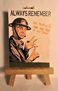 World War Two Poster ACEO Original PAINTING by Ray Dicken