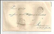 Preussen V / LAASPHE 17/5, K2 m. Dat.-Str. a. Kabinett-Trauerrand-Brief m. vs.