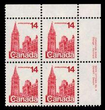 "CANADA 715 - Parliament Buildings Definitive ""Dull Paper"" (pa49923) Plate #4"