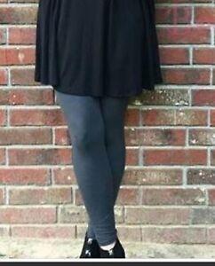 Extra Plus Size Grey Gray Leggings Fits Sizes 16-22 NWT