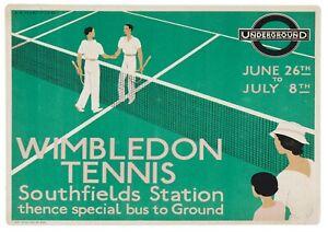 "Reproduction Vintage ""Wimbledon Tennis"" London Underground Poster"