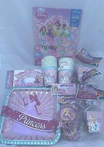 Disney Princess Birthday Party Pack Decoration Lot Supplies Pink Celebration