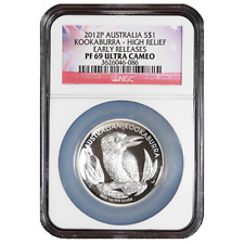 2012-P $1 Silver Australia Kookaburra High Relief NGC PF69UC Early Releases
