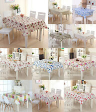 Waterproof PVC Wipe Clean Tablecloth Dining Kitchen Table Cover Protector 4 Size