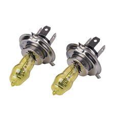 2x H4 Xenon Halogen 3000K Golden Yellow 100W HOD Light Bulb Fog Car Headlights