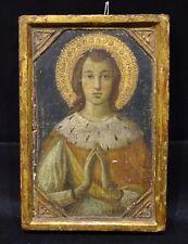 15th 16th Century Italian Renaissance Saint Praying Icon Gold Panel Painting