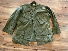 Vietnam War Slant pocket Coat Bonham Rip stop Poplin OG-107 1969 Size Med Short