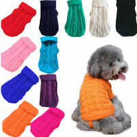 Dog Cat Knitted Jumper Knitwear Chihuahua Clothes Pet Puppy Winter Sweater 4-14