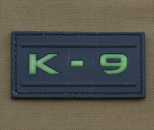 """PVC / Rubber Glow in the Dark Patch """"K9"""" with VELCRO® brand hook"""