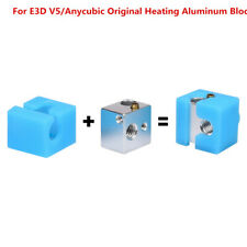 For E3D V5/Anycubic Original Heating Aluminum Block+Sock For Anycubic Mega I3