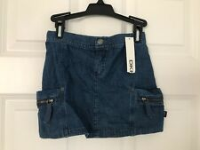 DKNY NWT Girls Skirt Denim Jean Zip Pocket Donna Karan New York 6