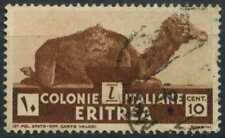 Eritrea 1933 SG#201, 10c Brown Used #D82243