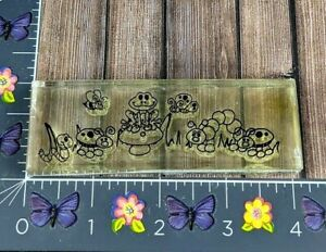 Provo Craft Frogs Ladybugs Caterpillars Acrylic Cling Stamp #E7