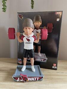 "JJ WATT Arizona Cardinals / Wisconsin Badgers ""Leg Day Squat"" Bobblehead #/199"