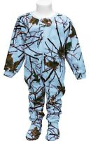 TrailCrest Infant Toddler Camouflage Footies Kids White Baby Pajama Sleeper